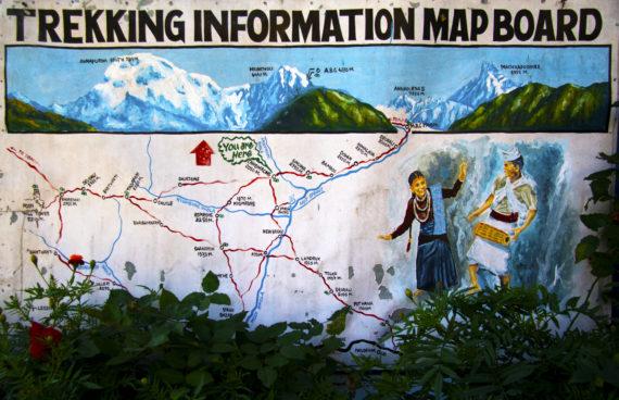 trekking-ghorepani-mapboard
