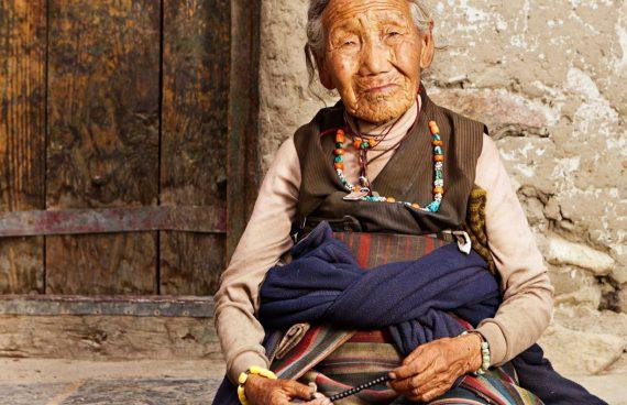 anciana Sherpa